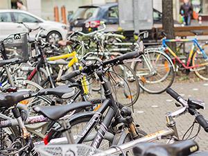 Fahrräder im Nürnberger Stadtbild