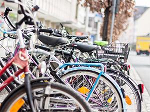 Fahrräder in Nürnberg Kornmarkt