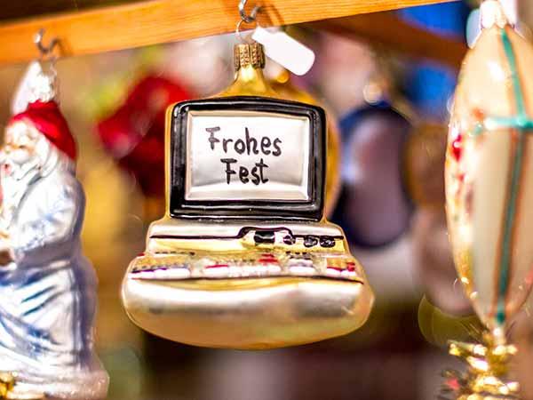 Die Weihnachtsstadt Nürnberg wünscht ein 'Frohes Fest'