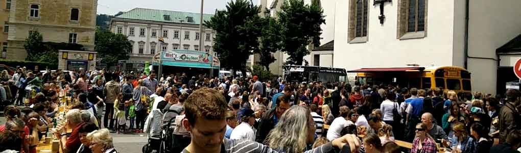Impression vom ersten Foodtruck RoundUp ON TOUR in Salzburg