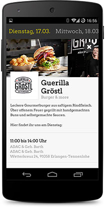 Screenshot Foodtruck Deutschland App