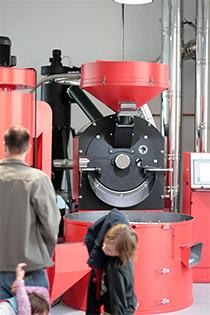 Rösttrommel Nürnberg röstet auf AEG Kaffee
